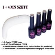 1 + 4 MN SZETT (1 db. 9 wattos UV/LED lámpa és 4 db. MN 6 ml Gel Polish COLOR)