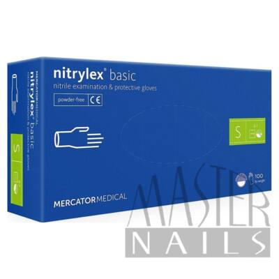 Gumikesztyű / Nitrylex BASIC Kék S-es méret 100 db-os
