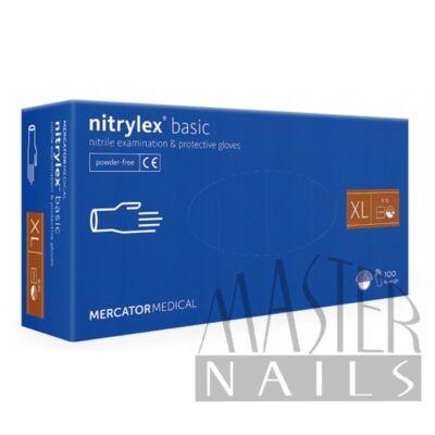 Gumikesztyű / Nitrylex BASIC Kék XL-es méret 100 db-os
