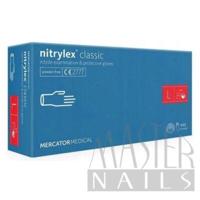 Gumikesztyű / Nitrylex Classic Kék L-es méret 100 db-os