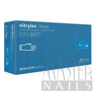 Gumikesztyű / Nitrylex Classic Kék M-es méret 100 db.