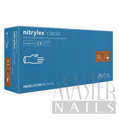 Gumikesztyű / Nitrylex Classic Kék XL-es méret 100 db-os