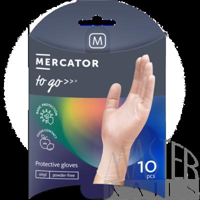 Gumikesztyű 10 db. / Mercator-To-Go / Vinil M-es méret.