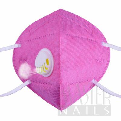 Maszk KN95 Szelepes Pink