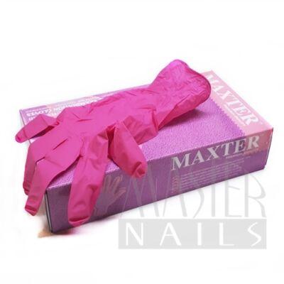 Gumikesztyű / Pink nitril M-es méret 100 db.