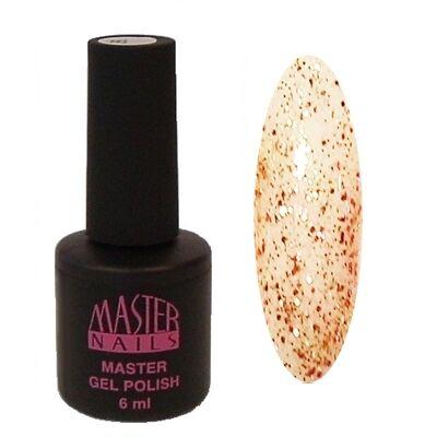 MN 6 ml Gel Polish: 143 - Rose & Arany Glitter