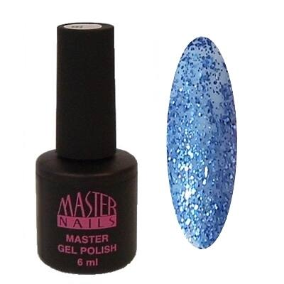 MN 6 ml Gel Polish: 150 - Kék Glitter