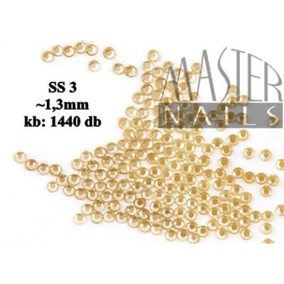 Kristály Strasszkő 1440 db / gold (SS3) XS-es méret