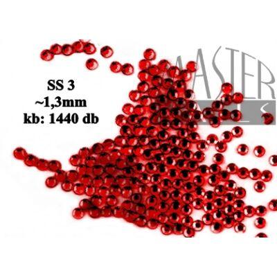Kristály Strasszkő 1440 db / siam (SS3) XS-es méret