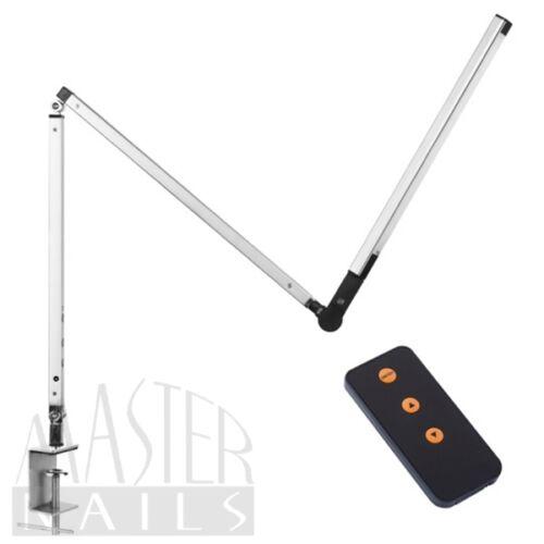 Műkörmös Asztali Lámpa / LED EZÜST / asztallapra erősíthető