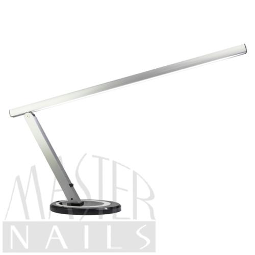 Műkörmös Asztali Lámpa / LED / Talpas Ezüst-Fekete