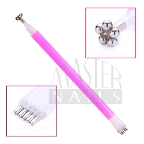 Mágnes (Virág) - Magnetic Gel Polish-hoz / Pink nyéllel