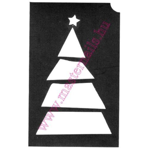 Csillámtetoválás sablon /MN-91/ Karácsonyfa