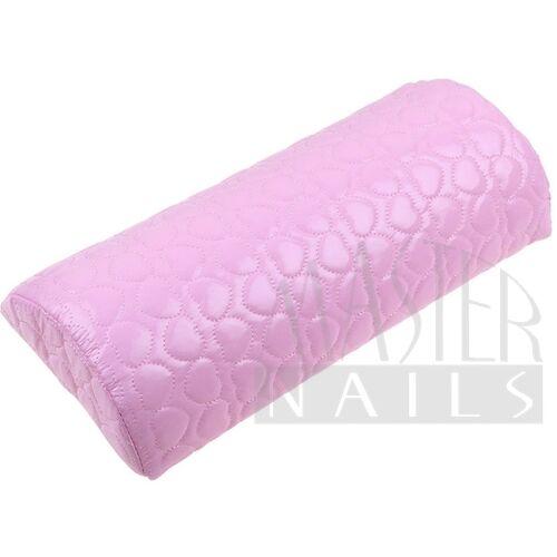 Kéztámasz műbőr / szivecskés pink