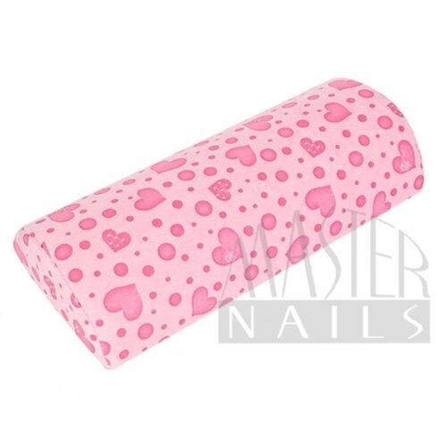 Kéztámasz frottír / pink szívecskés