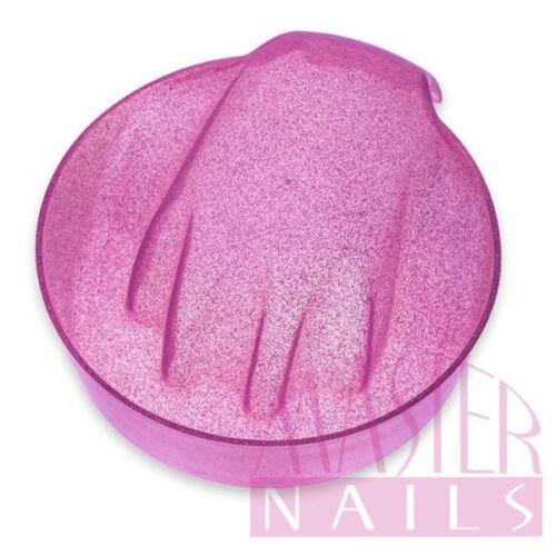 Manikűr tál kerek / Pink csillámos