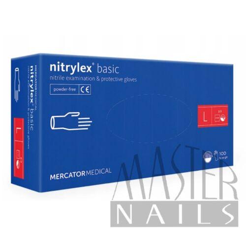 Gumikesztyű / Nitrylex BASIC Kék L-es méret 100 db-os