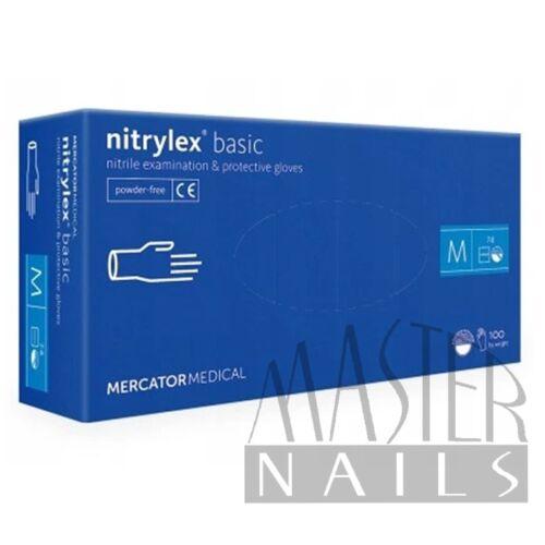 Gumikesztyű / Nitrylex BASIC Kék M-es méret 100 db-os