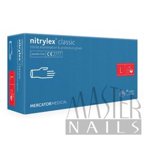 Gumikesztyű / Nitrylex Classic Kék L-es méret 200 db-os