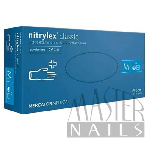 Gumikesztyű / Nitrylex Classic Kék M-es méret 200 db