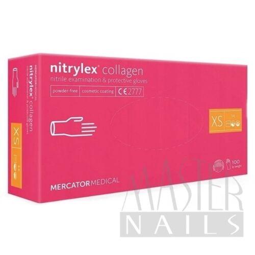 Gumikesztyű / Nitrylex Pink Collagen XS-es méret 100 db-os