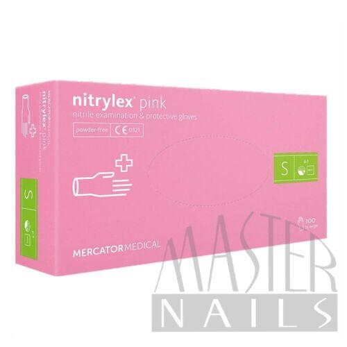 Gumikesztyű / Nitrylex Pink S-es méret 100 db-os