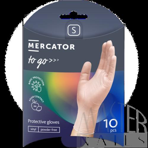 Gumikesztyű 10 db. / Mercator-To-Go / Vinil S-es méret.