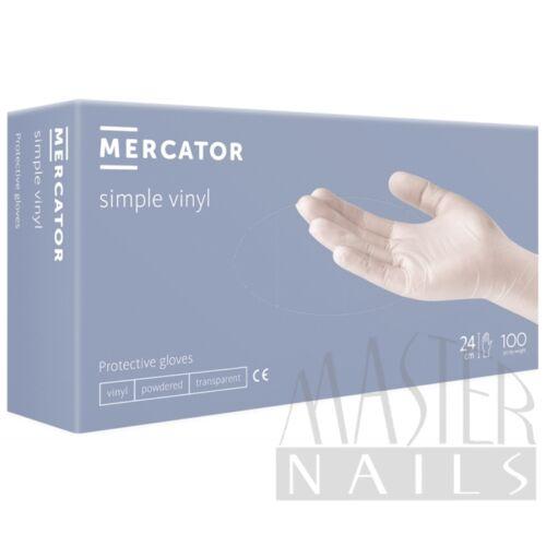 Gumikesztyű / Vinil Clear Púdermentes / XL-es méret 100 db-os / Mercator
