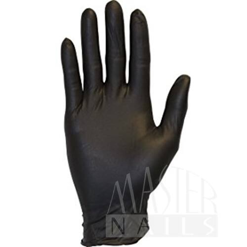 Gumikesztyű / Nitril Fekete M-es méret 100 db.