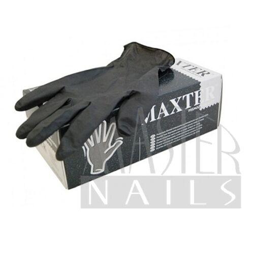 Gumikesztyű / Fekete nitril M-es méret 100 db.