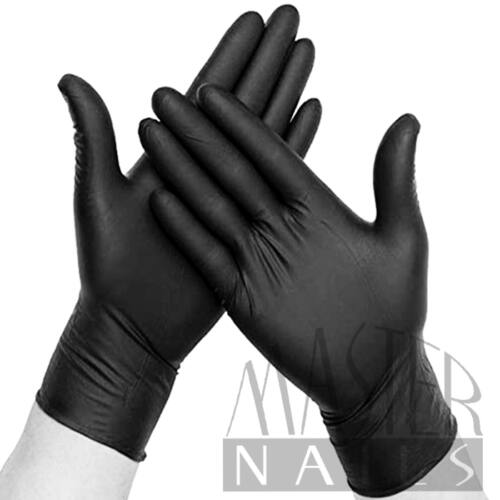 Gumikesztyű 10 db. / NITRIL Fekete L-es méret.