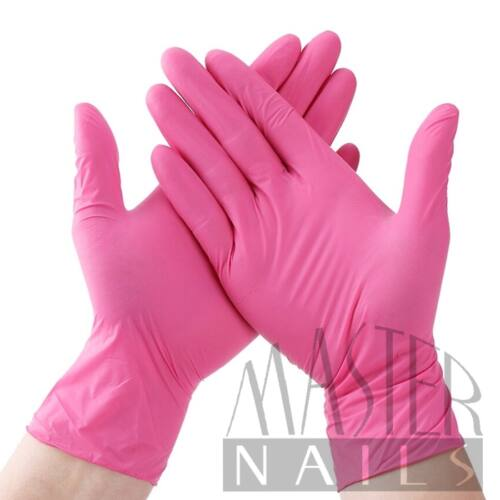 Gumikesztyű 10 db. / NITRIL Pink XS-es méret.