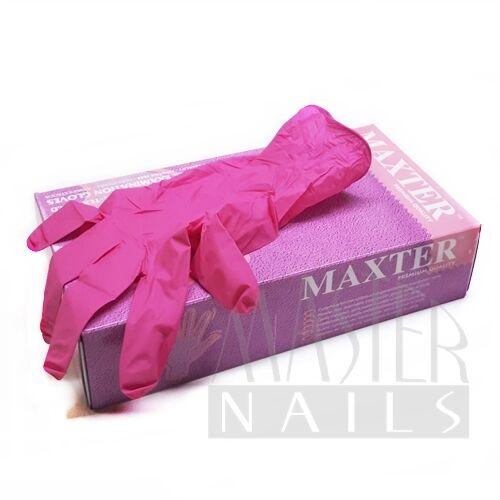 Gumikesztyű / Nitril Pink M-es méret 100 db.