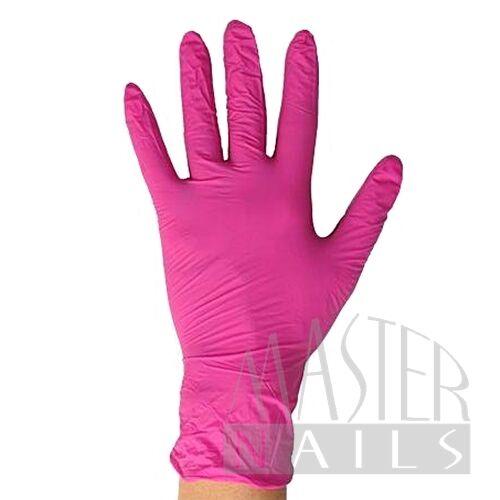 Gumi kesztyű / Pink nitril M-es méret 1 db.