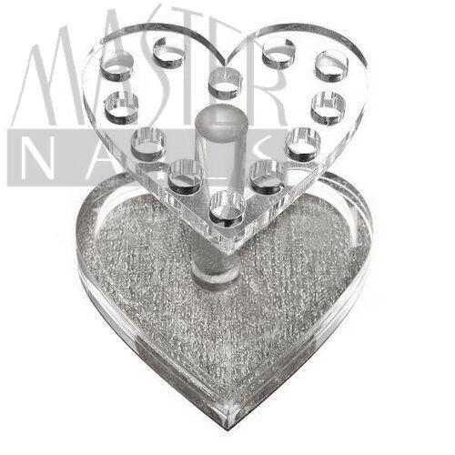 Ecsettartó / ezüst / szív