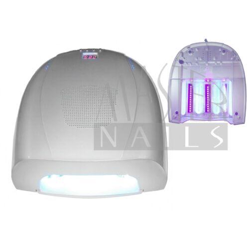 Műkörmös UV/LED Lámpa 54W (36w UV + 18w LED) 4076/S Ezüst / Sérült termék