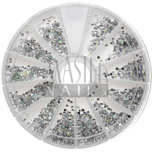 Nail Decoration kb:700 db. Körömdísz / Színjátszós-ezüst pötty