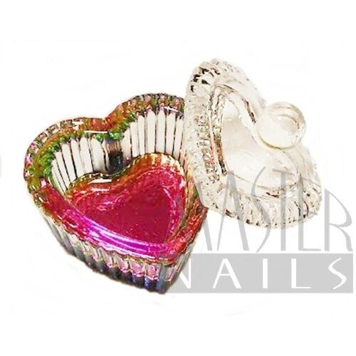 Üveg tégely tetővel / Multi szív